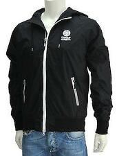FRANKLIN AND MARSHALL JACKET NYLON HOODED BLACK XS RRP £95 SALE BNWT