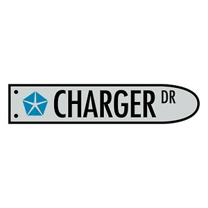 Charger Street Style 600x125mm Man Cave Sign