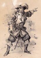 Portrait XIXe Jean Bart Dunkerque Corsaire Marine Lithographie 1845