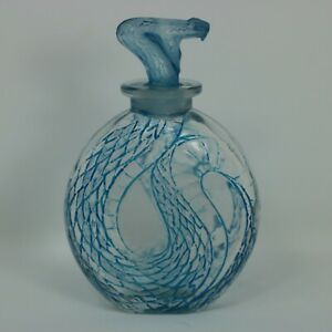 Rene Lalique Glass 'Serpent' Perfume Bottle