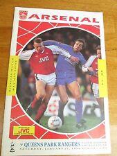 Arsenal v QPR - FA Cup 4th Round - 1989/90