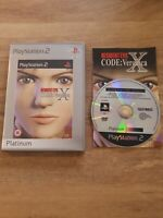 Resident Evil Code: Veronica X -- Platinum Edition (Sony PlayStation 2, 2002)