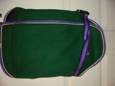 "Rima's Dog Blanket Hunter green/purple trim 19"" - New - water proof denier"
