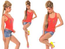 Maglie e camicie da donna camicetta senza colletto taglia 38