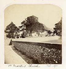 Angleterre, Canterbury, St Martin's church, 1870, vintage albumen print Vin