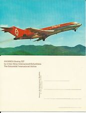 Avianca Airlines issued boeing 727  postcard