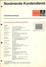 Nordmende Service Manual für Transita de Luxe d. L. 3.603
