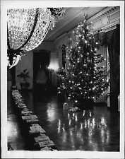 1942 Christmas Tree and Presents at the White House Press Photo
