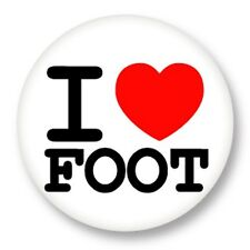 Pin Button Badge Ø38mm ♥ I Love You j'aime Sport Foot Football Soccer