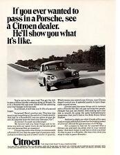1970 CITROEN  ~  PASS IN A PORSCHE  ~  CLASSIC ORIGINAL PRINT AD