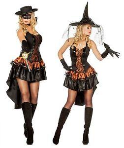 Hexe Hexen Kostüm Kleid Witch Zauberin Vampir Hexenkostüm Zorrokostüm Damen