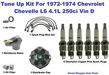 Tune Up Kit for 72-74 Chevrolet Chevelle Spark Plug Wire Set, Distributor Cap Ro