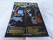 CHRIS REA - Publicité de magazine / Advert !!! THE ROAD SONGS FOR LOVERS !!!