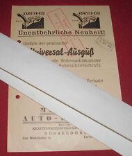 dachbodenfund alt blatt wehrmacht kanister kuli auto bedarf reklame werbung 1949