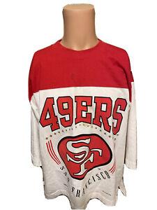 Rare Mens Vintage 1994 San Francisco 49ers NUTMEG Medium Sleeve Shirt Sz Medium