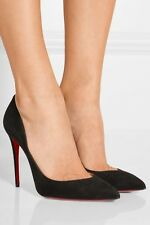 christian louboutin pigalle follies black suede 100mm pumps size 42 / 12