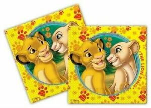 Pack of 40 Lion King Party Napkin 33cm - Birthday Baby Shower - Disney
