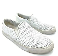 Common Projects White Perforated Leather Loafers Shoes Sneakers Men 43 10 US