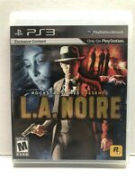 L.A. Noire (Sony PlayStation 3, 2011) Complete w/ Manual - Tested Working