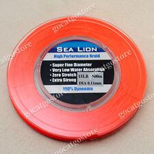 NEW Sea Lion 100% Dyneema Spectra Braid Fishing Line 500M 15lb Orange