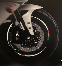 DUCATI MOTORCYCLE WHEEL RIM STICKERS ITALIAN FLAG HIGH STRENGTH VINYL