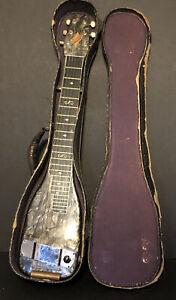 1940's Dickerson Lap Steel Guitar Black Diamond Pearl Finish in original case