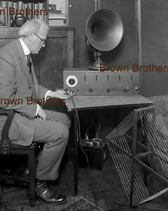 1940s Home Tube Radio Speaker Antennae Battery Glass Photo Camera Negative - BB