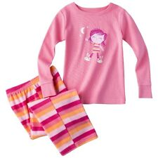 Schlafanzug~USA~Gr.80~Zweiteiler~Pyjama~Nachtwäsche~lang~pink~gestreift~Fleece
