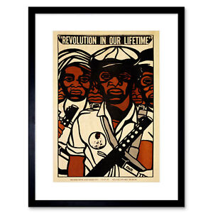 Political Civil Rights Black Panther Party African Framed Wall Art Print