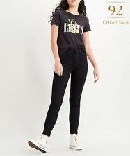 Levi's Premium Mile High Super Skinny Damen Jeans schwarz BNWT