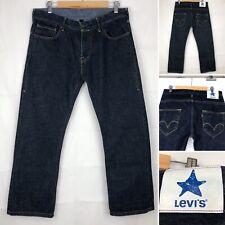 "LEVI'S Star Darkwash Blue Jeans W32"" L28"" Men's Zip Fly Jeans Casual Designer"