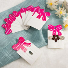 300 Pcs Nbeads® Paper Carboard Hair Clip Display Card with Bowknot 79x50mm