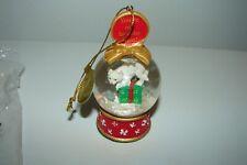 Danbury Mint Cat and Mouse Miniature Snow Globe Figurine Ornament