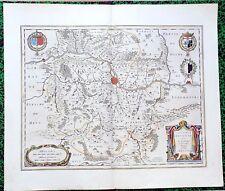 XVII ème - Metz Pays Messin Superbe Carte par Joan Blaeu 58 x 49 Editée en 1640