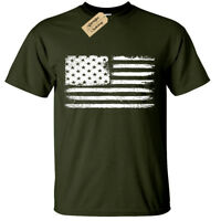 Grunge USA Flag T-Shirt S-5XL Mens American retro distressed united states