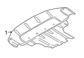 AUDI Q7 2010 - 2015 GENUINE OEM Engine Splash Shield 7L8825285C