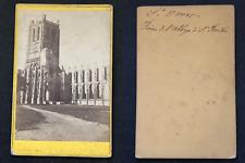 France, Saint Omer, Ruines de l'abbaye de Saint Bertin, circa 1870 vintage