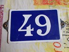 ANCIEN NUMERO *49*EN  EMAIL DE MAISON  PLAQUE EMAILLEE DE RUE
