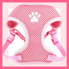 Top Paw Baby Pink Padded Comfort Mesh Dog Harness with white paw print S