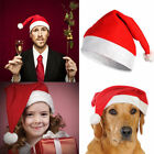 5x Christmas Cap Thick Ultra Soft Plush Xmas Santa Claus Holiday Fancy Dress Hat