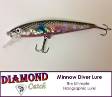 Holographic 11.8g Hard Fishing Lure Swimbait Diver MIni Pike Trout Bass Bait