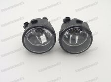 1Pair Front Bumper Lamps Fog Light Clear For Nissan Tiida 2012-2016