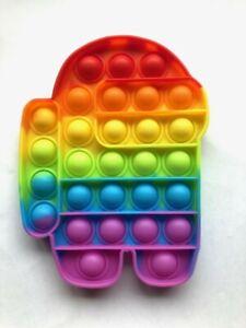 Large Amongus Pop Push It Fidget Toy.  29 Bubbles