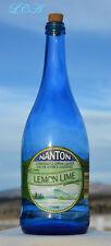 LARGE beautiful SKY BLUE color CANADIAN SPRING WATER bottle NANTON ALBERTA