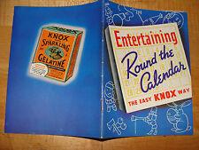 Knox Sparkling Gelatine Entertaining Round the Calendar the Easy Knox Way 1938