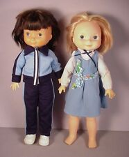 1970's  2 Fisher Price My Friend Dolls with Vinyl and cloth body vintage FP