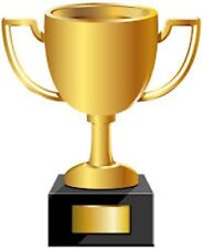 65 Trophy Stickers - A4 Sheet - Each Sticker 20mm x 38mm Ideal For Quizzes