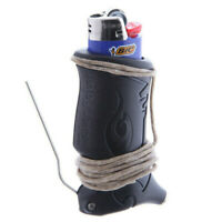 Toker Poker (BLK) Lighter Sleeve w/ BIC Lighter & 4ft Hemp Wick - Smoking Tool