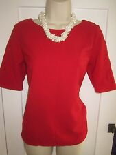 Ladies size 8 F&F red smart short sleeve top
