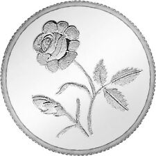 Ananth Jewels 1 gram Plain Rose Silver Coin - BIS HALLMARK 999